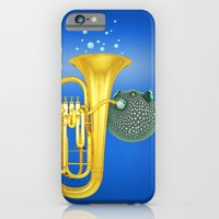Puffer Fish Playing Tuba iPhone 6 Slim Case