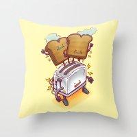 The ToasterBot Throw Pillow
