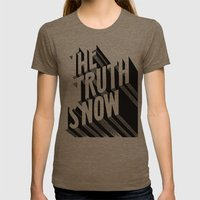 The Truth Is Now Womens Fitted Tee Tri-Coffee SMALL
