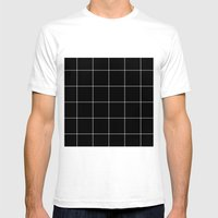 Black Grid /// www.pencilmeinstationery.com Mens Fitted Tee White SMALL