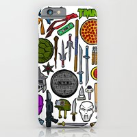 iPhone & iPod Case featuring TMNT Weapons & Masks by BinaryGod.com