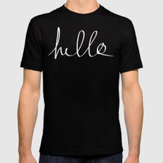 Hello x Mint SMALL Mens Fitted Tee Black