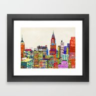 New York City Skyline Framed Art Print