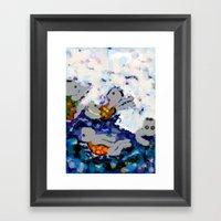 nadadores Framed Art Print