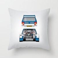 Outline Series N.º7, MG Metro 6R4, 1986 Throw Pillow