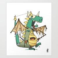 A Kobold In Dragon Cloth… Art Print