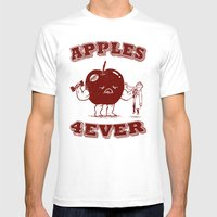 Apples 4EVER Mens Fitted Tee White SMALL