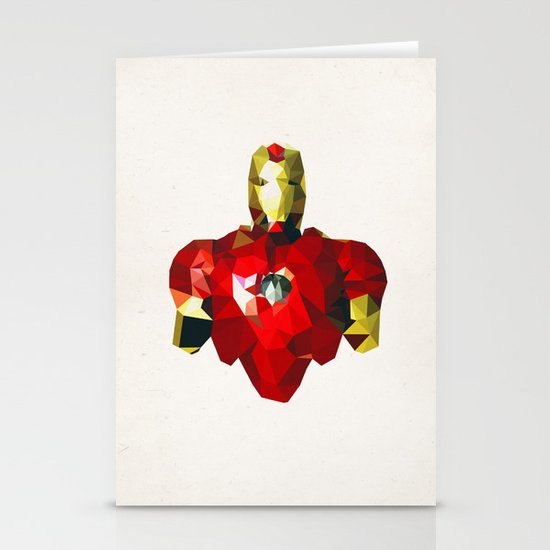 Polygon Heroes - Iron Man Stationery Card