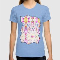 Karissa Womens Fitted Tee Tri-Blue SMALL