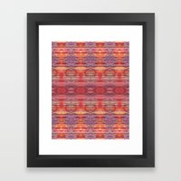 Red and Purple Watercolor Pattern Framed Art Print