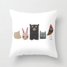 Animal love Throw Pillow