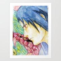 Sasuke Watercolor Art Print