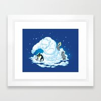 Penguin Jerks Framed Art Print