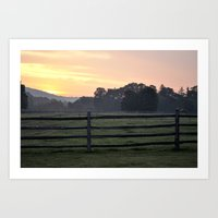 Billings Farm Sunrise at Woodstock, Vermont  Art Print
