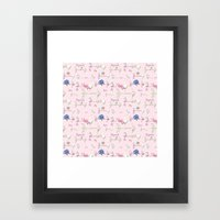 Happiness Is A Bouquet O… Framed Art Print