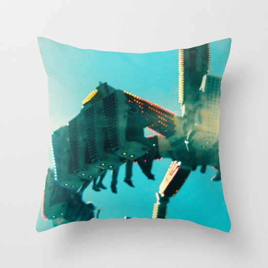 Oaks Park - Holga Series Throw Pillow