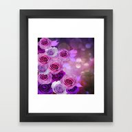 Framed Art Print featuring Rose Glow Abstract by Judy Palkimas