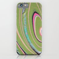 iPhone & iPod Case featuring napkin gender/pink green by Katie Troisi
