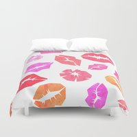 Kisses All Over You Duvet Cover