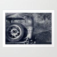 The Old Car Art Print