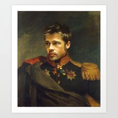 Brad Pitt - Replaceface Art Print
