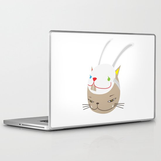 CAT WITH RABBITZ MASK Laptop & iPad Skin