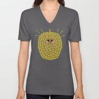 Happy Pixel Durian Unisex V-Neck