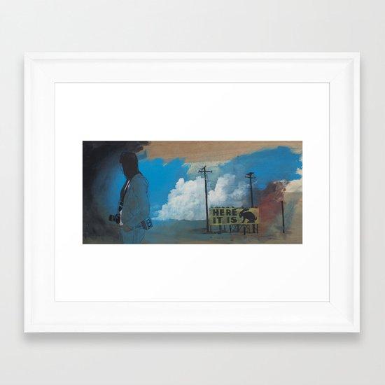 Thunderhead print Framed Art Print