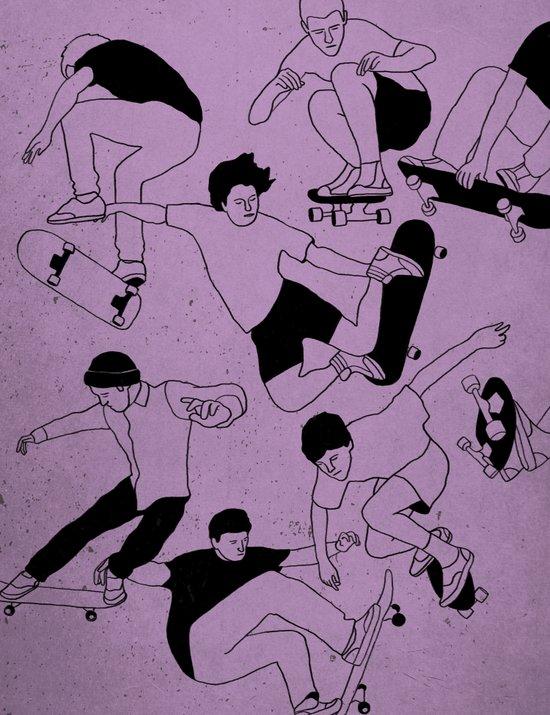 Sidewalk Surfing Art Print