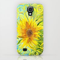 Galaxy S4 Cases featuring Sunflower Symphony by Catherine Holcombe