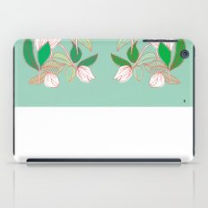 Floating Tulips (mint green) iPad Case