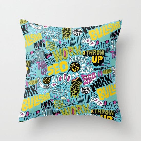 SEO Pattern Throw Pillow