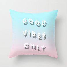 Good Vibes Only - Shadow Gradient - Vaporwave Throw Pillow
