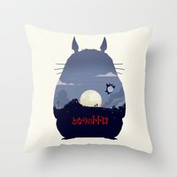 My Neighbor Throw Pillow