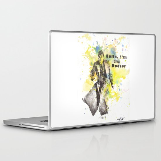 Doctor Who 10th Doctor David Tennant Laptop & iPad Skin