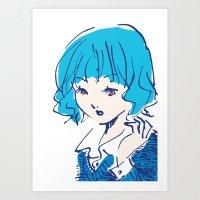 SHANNON GOT A NEW HAIR STYLE Art Print