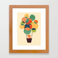 Whimsical Hot Air Balloon Framed Art Print