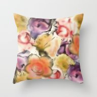 Throw Pillow featuring There Are Roses Without … by Klara Acel