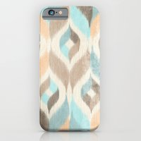 iPhone & iPod Case featuring Soothing Waves Ikat by petite stitches