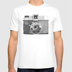 diana camera Mens Fitted Tee White SMALL