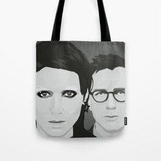 Lisbeth and Mikael / The Girl with the Dragon Tattoo Tote Bag