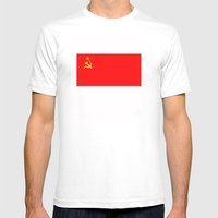 ussr cccp russia soviet union communist flag Mens Fitted Tee White SMALL