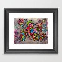 Robot bears Framed Art Print