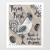 Farm Fresh Farmhouse Chic Art Print