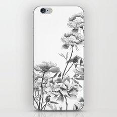 black and white peonies  iPhone & iPod Skin