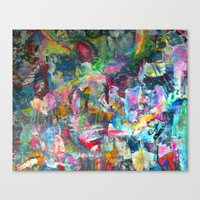 REM white noise Canvas Print