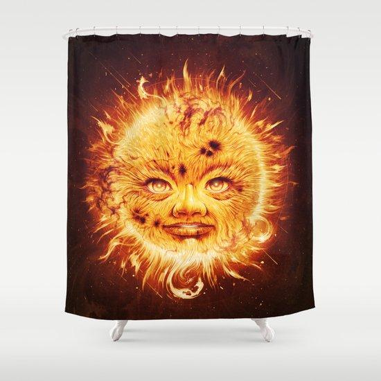 The Sun (Young Star) Shower Curtain