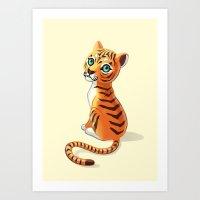 Tiger Cub Art Print