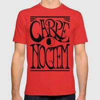 Carpe Noctem Mens Fitted Tee Red SMALL