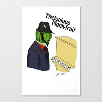 Thelonious Monk-fruit Canvas Print